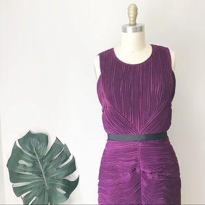 Burberry • Elegant Purple Ruched Dress